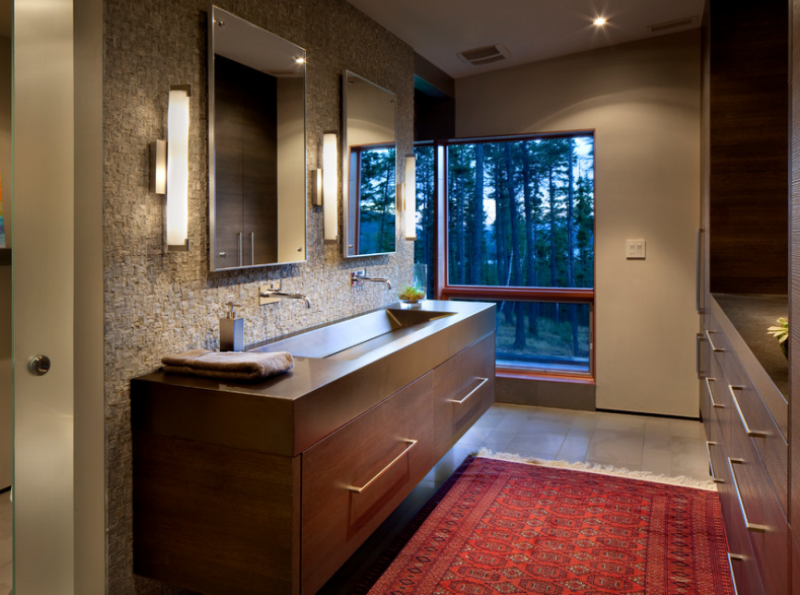 jack and jill bathroom full cabinets