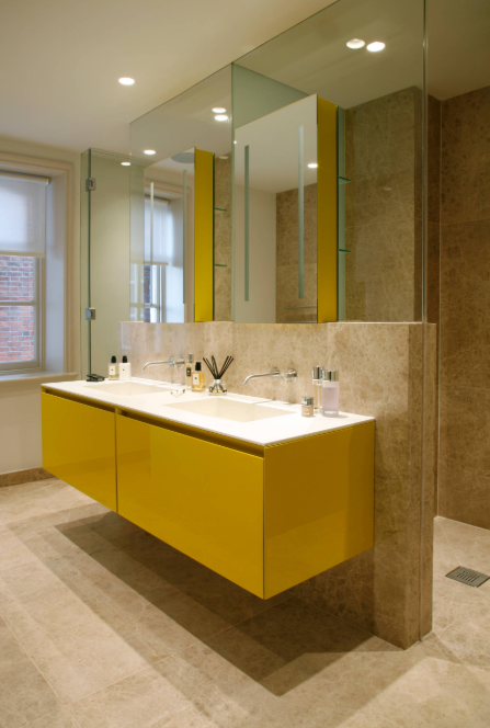 jack and jill bathroom yellow