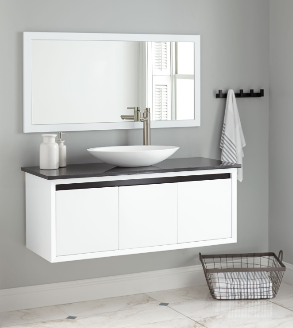 COTTEE WALL-MOUNT VESSEL SINK VANITY