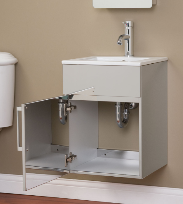 CROSSTOWN STAINLESS STEEL WALL-HUNG VANITY - BRUSHED