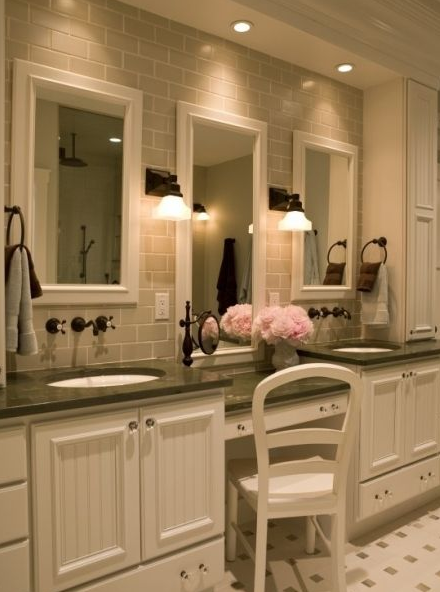 Rustic Bathroom Vanities - Matching Color