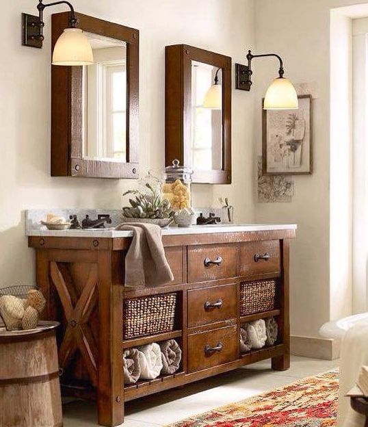 35 ideas for rustic bathroom vanities - Rustic Bathroom