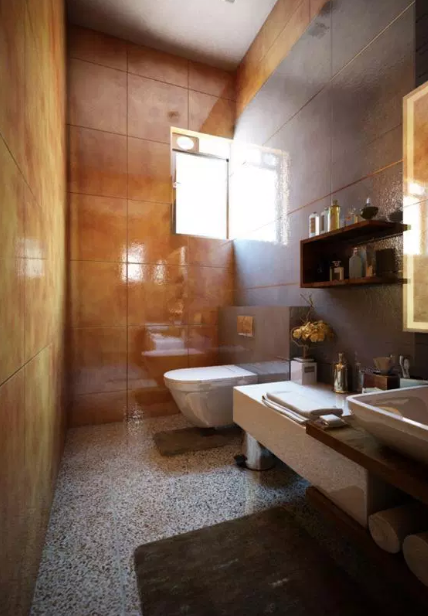 Bathroom with New Light. - Modern Bathroom