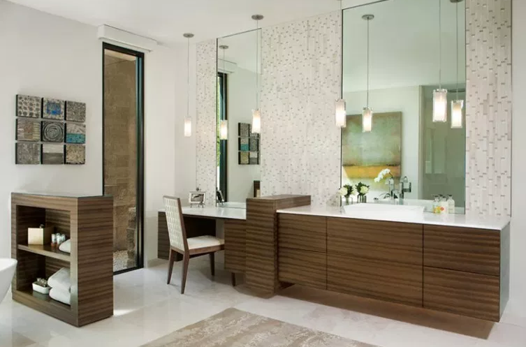 Tranquil Contemporary - Bathroom Sinks