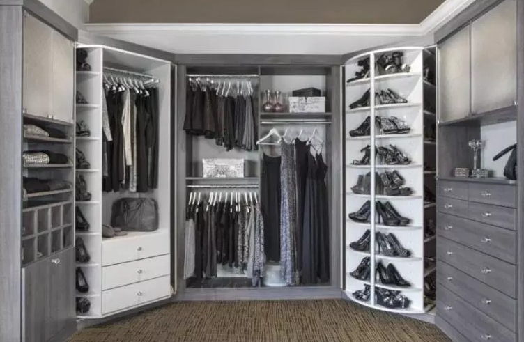 Closet with Two 360 Organizers - Walk in Closet Ideas