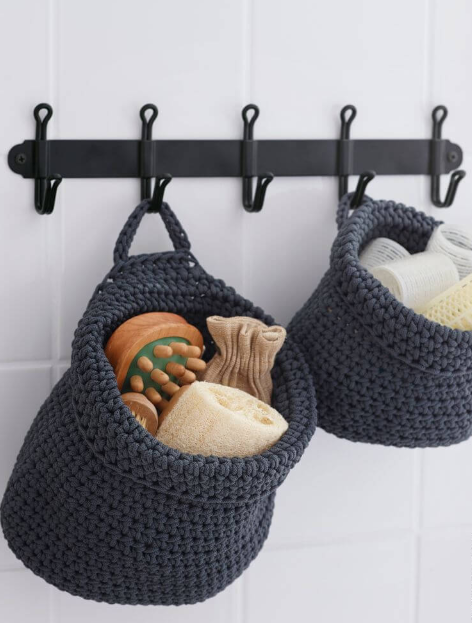 Coat Rack DIY Crochet Basket