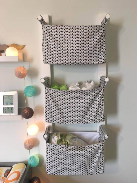 DIY Wood and Cotton Swinging Baskets