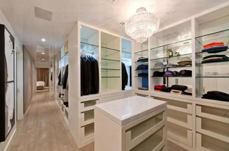 Large, Elaborate Walk-In for Her - Walk in Closet Ideas