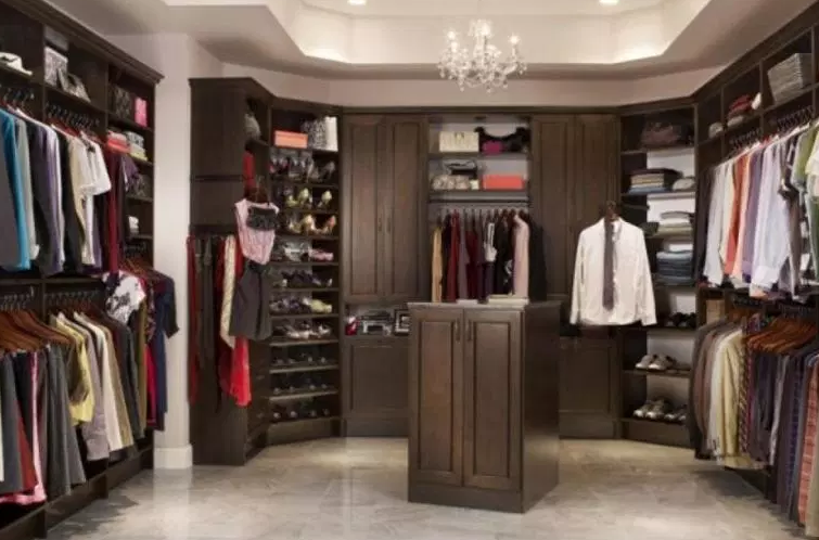 Large Master Walk In Closet for Him - Walk In Closet Ideas