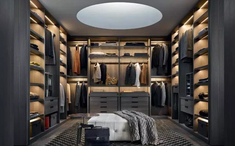 Modern Closet for Him - Walk in Closet Ideas