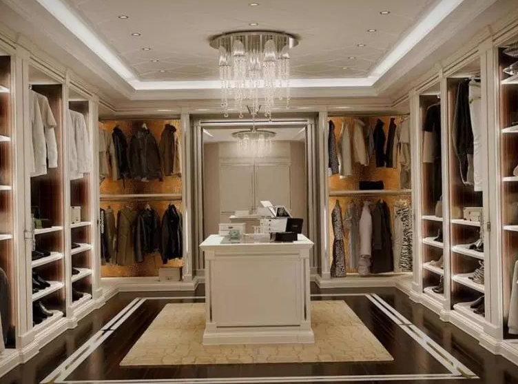 Modern Master Closet with Island - Walk in Closet Ideas