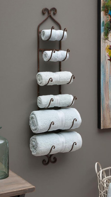 Pyramid Coat Rack Floating Towel Storage