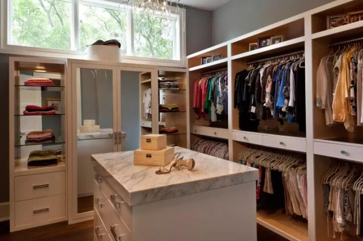 Sloped Walls & Closet Island - Walk in Closet Ideas
